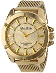 Marc Ecko Mens E18597G1 The Flash Gold Mesh Gold Dial Watch