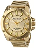 Marc Ecko Men's E18597G1 The Flash Gold Mesh Gold Dial Watch