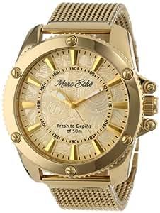 Marc Ecko E18597G1 - Reloj de hombre de cuarzo dorado con correa de acero (Luz, cristal mineral)
