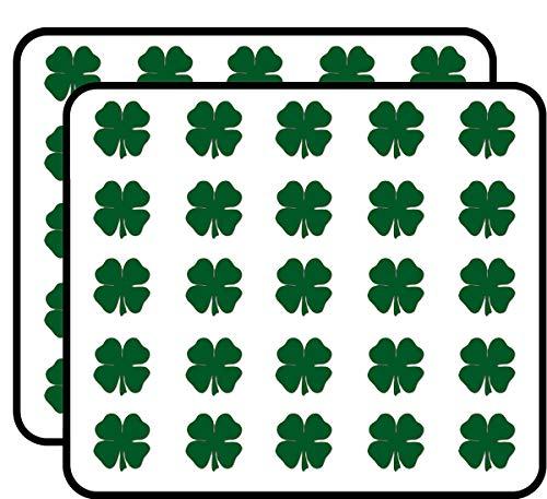 (Green Shamrock Shaped (Lucky Irish Clover Boston) Sticker for Scrapbooking, Calendars, Arts, Kids DIY Crafts, Album, Bullet Journals)