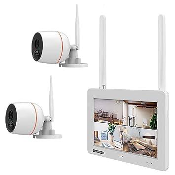 INKOVIDEO WiFi IP-Überwachungskamera-Set 4canal con 2 ...