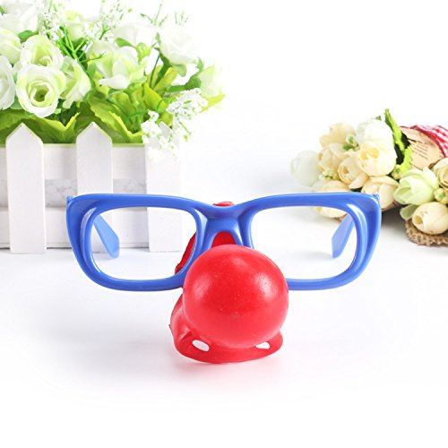 Joker Dress Up Costume Props Birthday Party Clown Nose Glasses Suit Unisex Adult And Children
