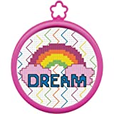 Bucilla My 1st Stitch Mini Counted Cross Stitch Kit, 5.125 by 7.625-Inch, 45644 Dream Rainbow