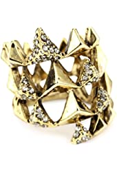 House of Harlow 1960 Gold-Plated Pyramid Wrap Ring