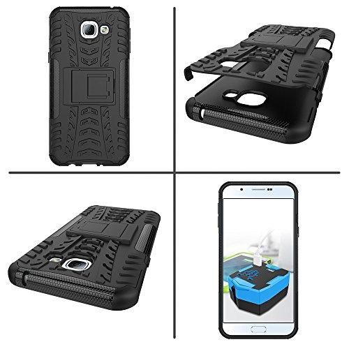 XHD-Casos de teléfonos móviles Desmontable [Kickstand] 2 en 1 resistente a prueba de golpes cubierta de la caja para Samsung Galaxy A8 2016 ( Color : Red ) Red