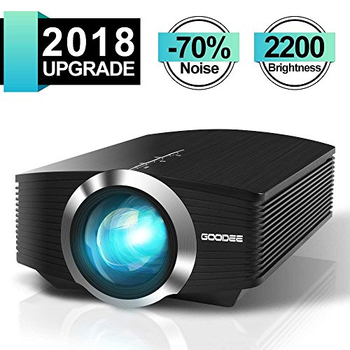 Projector-GooDee-2200-lm-Luminous-Flux-LED-Source-Video-Projector-Supported-1080P-Mini-Projector-Compatible-with-Fire-TV-Stick-HDMI-VGA-USB-for-Home-Cinema-Theater-Movie-Projector