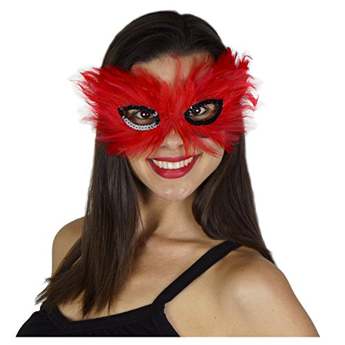 Zucker Feather (TM) - Feather Hackle Mask - Red/Black -
