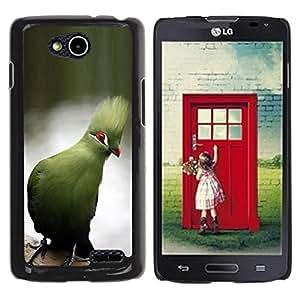 YOYOYO Smartphone Protección Defender Duro Negro Funda Imagen Diseño Carcasa Tapa Case Skin Cover Para LG OPTIMUS L90 D415 - loro azul lago tropical rama agua