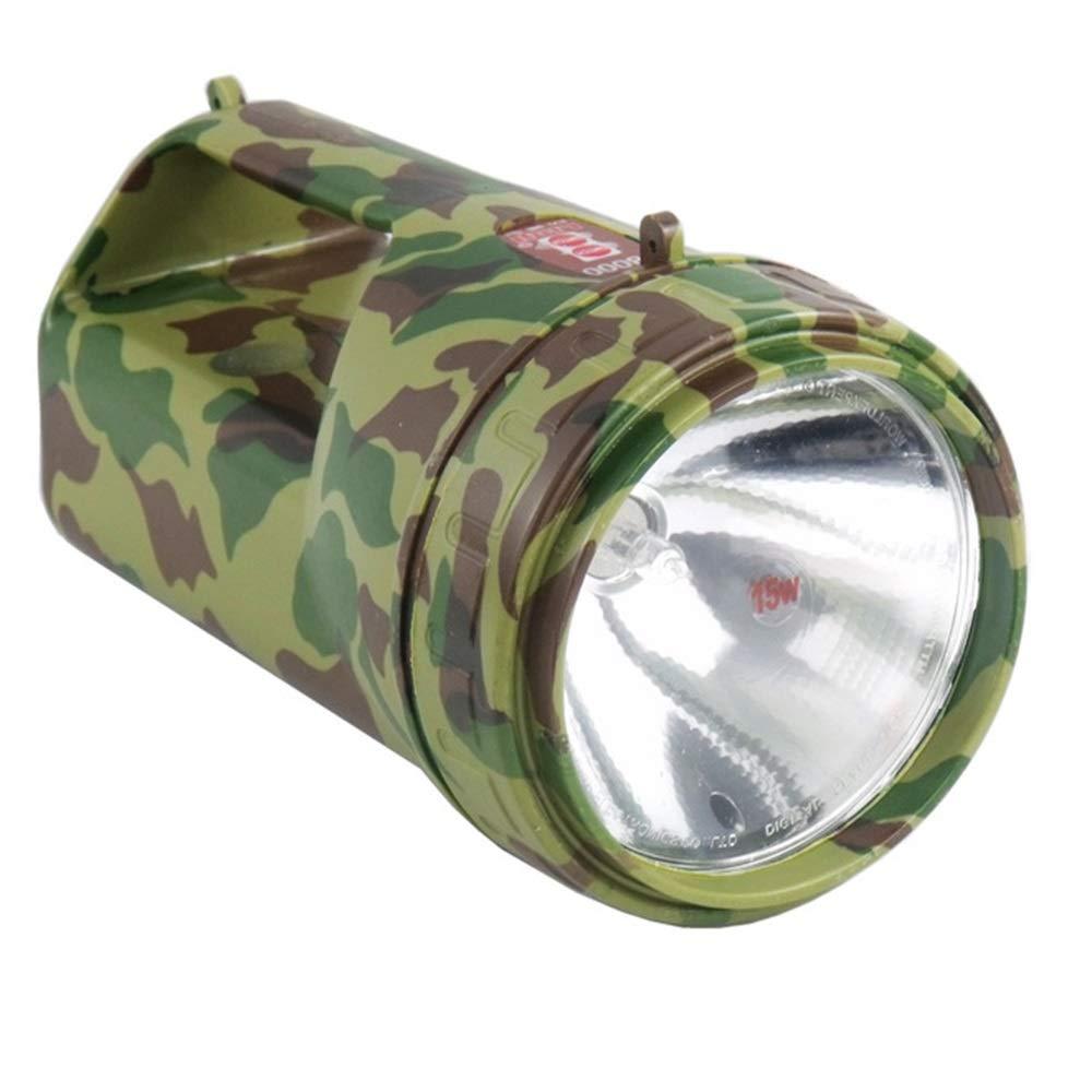CHA Tragbare Wasserdichte Scheinwerfer im Freien 15W Halogen wiederaufladbare Haushalts-Taschenlampe