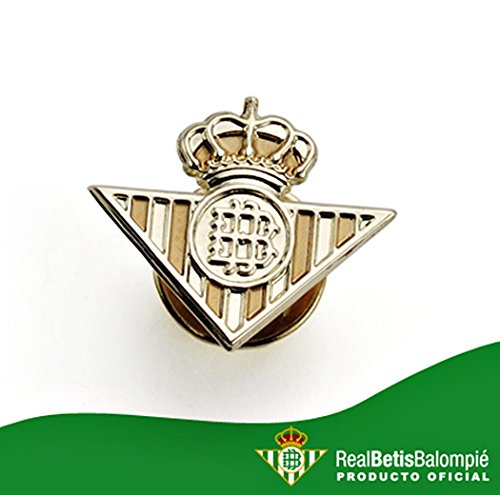 Broche Real Betis bouclier loi or 18k lisser [AA0657] - Modèle: 50-036-L