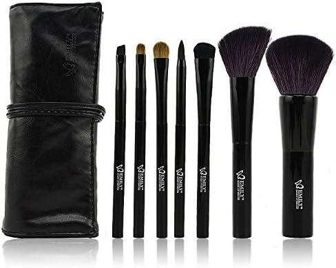 Leox - Juego de pinceles y brochas de maquillaje (cerdas de marta cibelina, 10 piezas, en estuche), color negro: Amazon.es: Hogar