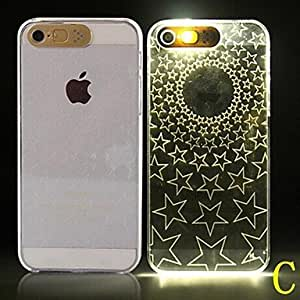 SHOUJIKE Caller Flashes PC Soft Case for iPhone 5/5S (Assorted Colors) , C