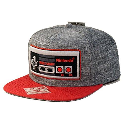 Nintendo Controller Gray Snapback Hat