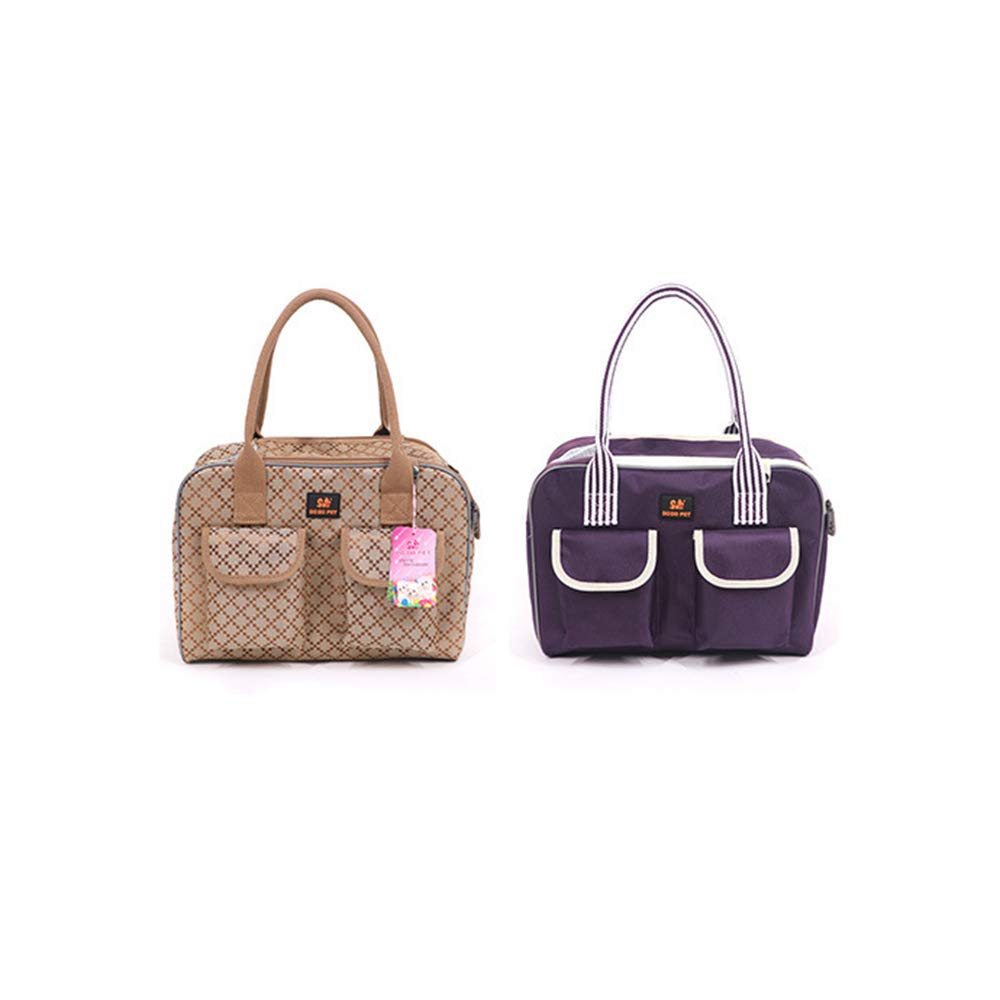 Small Pet Carrier Dog Carrier Bags for Small Dogs Car Carrier Pet Bag Satchel Small Pet Light,Purple,L