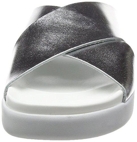 Sixtyseven 77719 - Zapatos de vestir para mujer Plata/Blanco