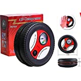Kanyadaan Portable Electric Mini DC 12V Air Compressor Pump for Car and Bike Tyre Tire Inflator (Multicolour)