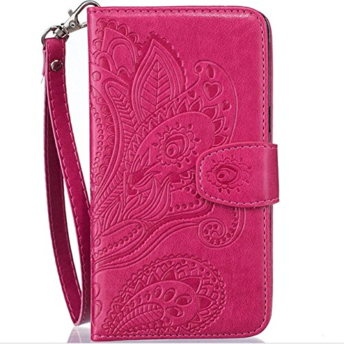7s Costumes (Iphone 7 Plus Wallet Case, PU Leather IPhone 7 Plus Shockproof Full Protective Cover with Card Holder (Pink))
