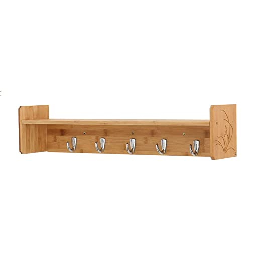 HhGold Perchero Perchero Soporte de Pared Estante de Madera ...