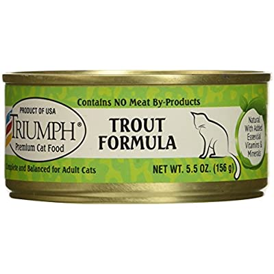 Triumph Trout Formula Cat Food, 5.5 Ounces Per Can, Case Of 24
