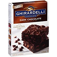 Ghirardelli Dark Chocolate Brownie Mix, 20-Ounce Boxes (Pack of 4) by Ghirardelli