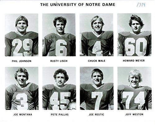 Joe Montana UnSigned 8x10 University of Notre Dame 1978 Photo Team picture 49ers -