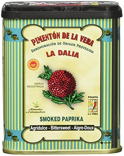 La Dalia Smoked Paprika Trio from Spain, Hot, Sweet & Bittersweet, 2.5 oz/70 g each, 3 Count