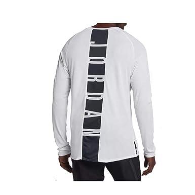 e15a9f3bad0 Jordan Nike Mens Dri-Fit Alpha 23 Long Sleeve Shirt White/Black 926436-