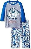 Bunz Kidz Little Boys' Toddler Little Monster 2 Piece Pajama Set, Blue, 3T