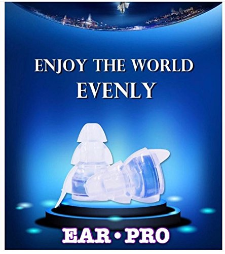 EAR•PRO TECH-High Fidelity Earplugs for Concerts,Musicians, Dj's,Drummers,Motorcycles,Sleeping,Shooting (2 earplug shell sizes for better fit in every order+with aluminum box+black zip case) by Ear-Pro Inc (Image #5)