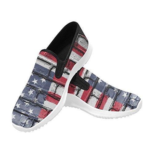 Scarpe Da Ginnastica D-story Con Bandiera Americana Da Donna Slip-on