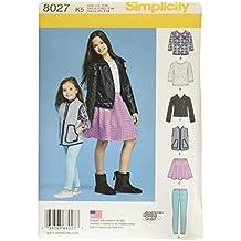 Simplicity Creative Patterns US8027K5 Child's and Girls' Sportswear Pattern Size: K5 (7-8-10-12-14),