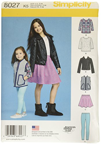 Simplicity Creative Patterns US8027K5 Child's and Girls' Sportswear Pattern Size: K5 (7-8-10-12-14),