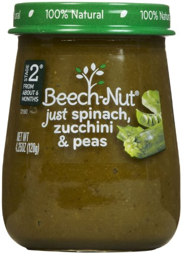Stage 2 Spinach Zucchini & Peas (Pack of 10) by Beech-Nut