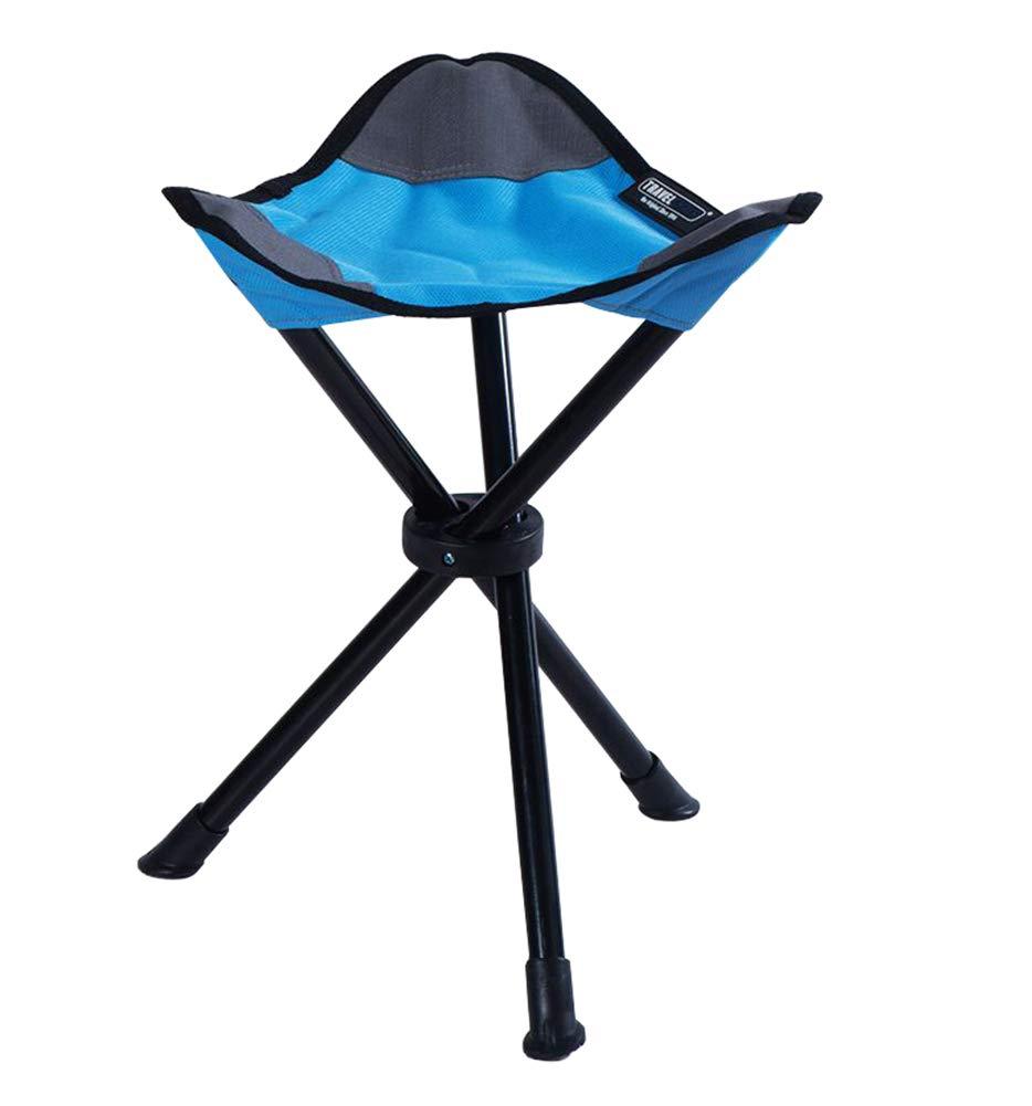 YANGYA Portable Folding Camping Stool Tripod Chair Seat Lightweight Small Fishing Stool for Outdoor Traveling Hiking Beach Garden BBQ-Blue by YANGYA
