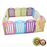 New Baby Playpen Kids 14 Panel Safety Play Center Yard Home Indoor Outdoor 122