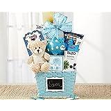 Oh Baby Blue Newborn Baby Boy Gift Basket
