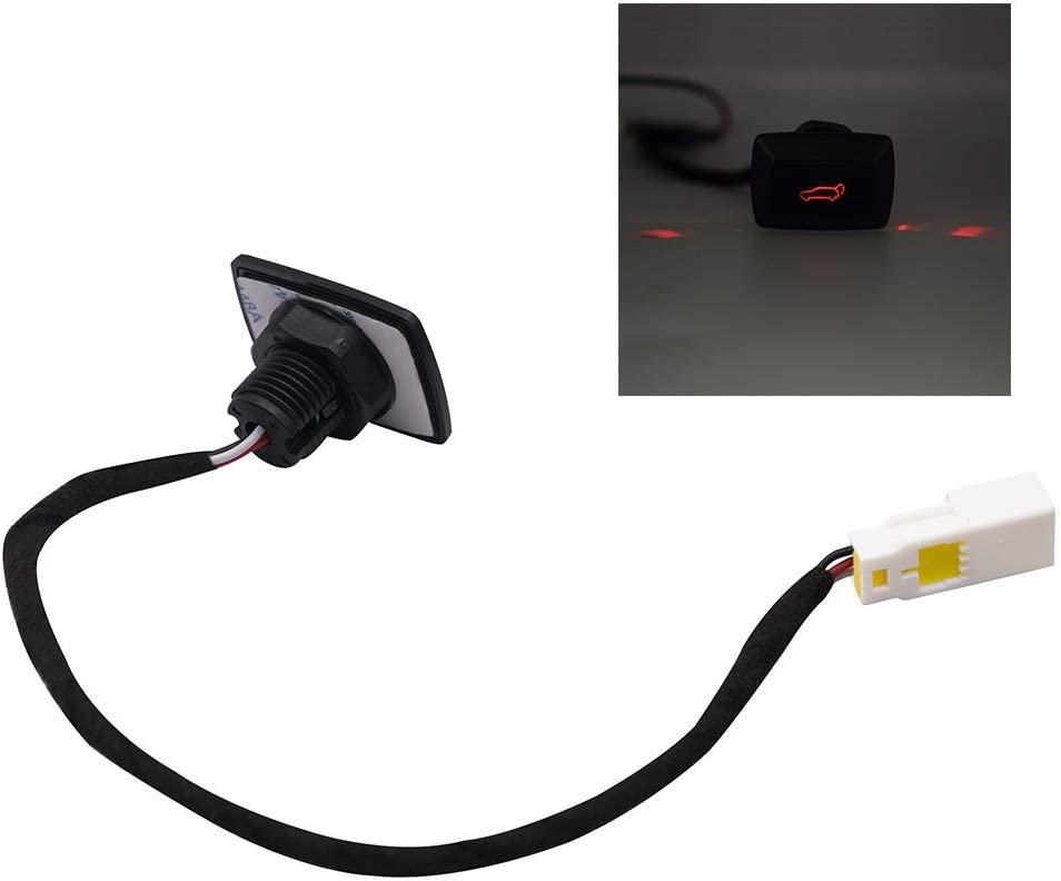 1 Pieza de Interruptor de Liberaci/ón de Maletero 12 V con Led Universal Coche Trasera Tapa de Port/ón Trasero El/éctrico