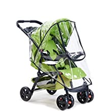 Yosoo Baby Stroller Waterproof Rain & Wind Shield, Universal Pushchairs Transparent Weather Shield Dust Cover with Window, Fit Most Strollers