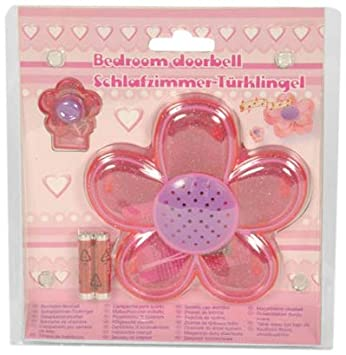 PINK FLOWER BEDROOM DOORBELL GIFT SET. PINK FLOWER BEDROOM DOORBELL GIFT SET  Amazon co uk  Toys   Games
