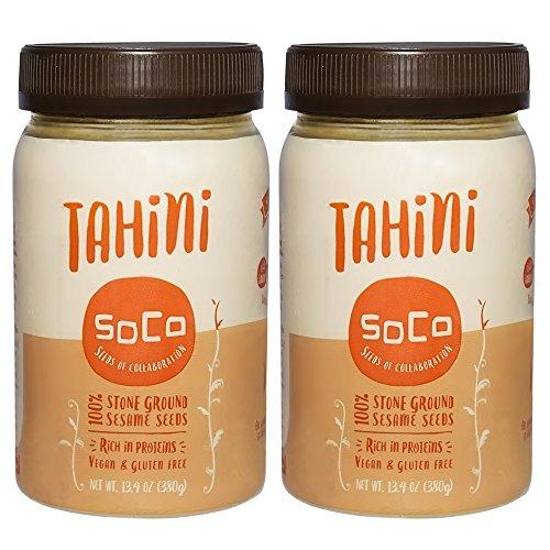 SoCo Tahini Sauce   Pure Stone Ground Sesame Seed Paste   Naturally Raw, Vegan, Kosher   13.4 Ounce, 2 (Kosher Vegan Honey)
