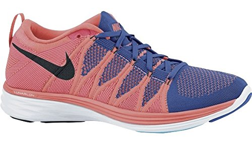nike womens flyknit lunar2 running trainers 620658 sneakers shoes (us 6.5, Orange 800)