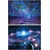 2 Pieces 5D DIY Diamond Painting Set Full Drill Diamond Painting Wall Stickers For Living Room Night Sky&Starry sky (Canvas Size30X40CM/11.8X15.7inch)