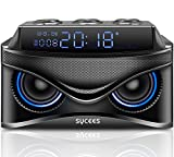 Sycees 2.1CH Wooden Bluetooth Speaker with 15W Subwoofer to Reproduce Deep Bass