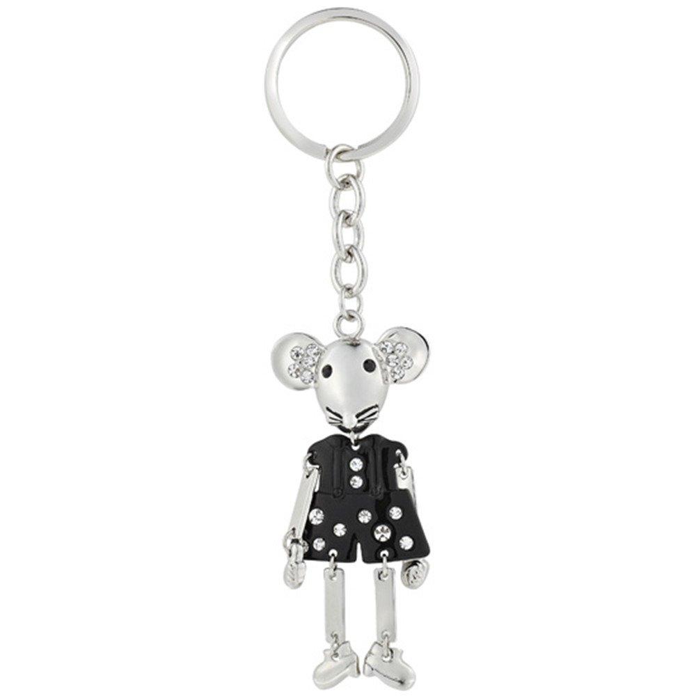 Rizilia Joyería Especial Vintage Llaveros Negro Mickey Mouse ...