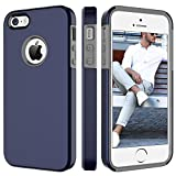 5s bumper navy - BENTOBEN Phone Case for Apple iPhone SE, iPhone 5S, iPhone 5, Dual Layer 2 in 1 Soft Hybrid TPU Bumper Hard PC Phone Protective Cover, Shockproof Heavy Duty Slim Phone Cover – Navy Blue