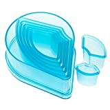 Ateco 5758 Plain Edge Fan Cutter Set in Graduated Sizes, Durable, Food-Safe Plastic, 7 Pc Set
