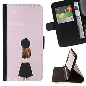 Jordan Colourful Shop - FOR HTC One M9 - choose how I feel - Leather Case Absorci¨®n cubierta de la caja de alto impacto