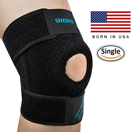 Knee Brace for Meniscus Tear, Knee Support Brace Adjustable Open Patella Stabilizer for Man Woman with 4 Way Compression System – Knee Brace Support Applicableto ACL MCL LCL PCL Recovery