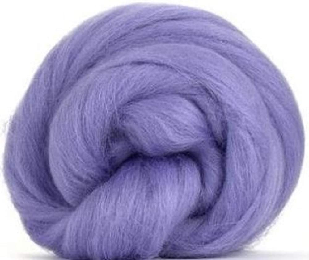 Felting Purple Merino Top Spinning Fiber Luxuriously Soft Wool Top Roving for Spinning with Spindle or Wheel Blending and Weaving 4 oz Paradise Fibers 64 Count Dyed Heather
