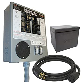 Generac 6294 30-Amp 6-10 Circuit Manual Transfer Switch Kit for Portable on
